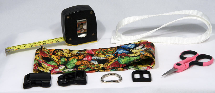 Materials needed to make your dog collar